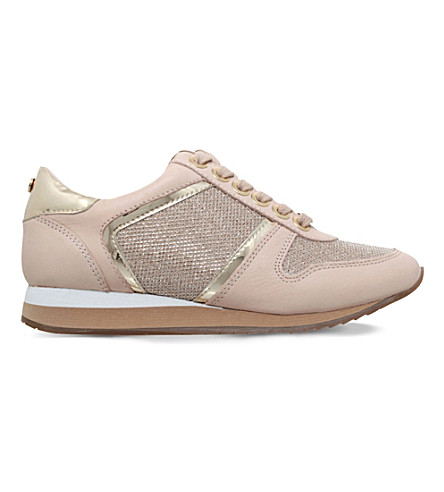 CARVELA Lennie mesh and leather trainers (Nude