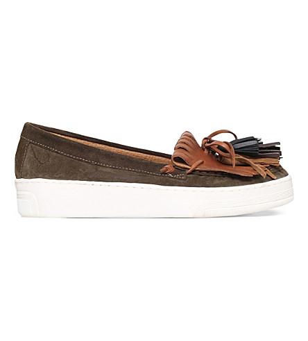 CARVELA Lilian suede loafers (Khaki