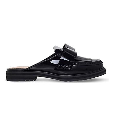 KG KURT GEIGER Kara patent-leather loafers (Black