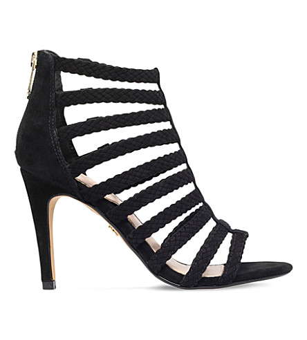 KG KURT GEIGER Honey suede heeled sandals (Black