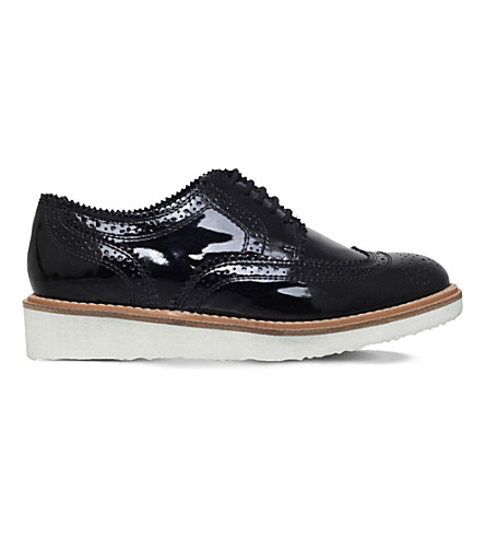 KG KURT GEIGER Knox patent-leather brogues (Black