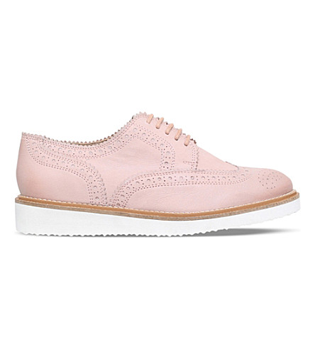 KG KURT GEIGER Knox leather brogues (Nude