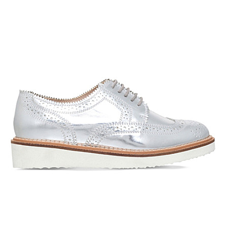 KG KURT GEIGER Knox patent-leather brogues (Silver