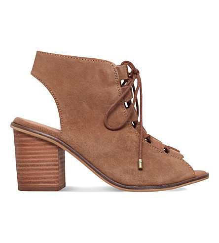 KG BY KURT GEIGER Molly suede shoe-boots (Tan