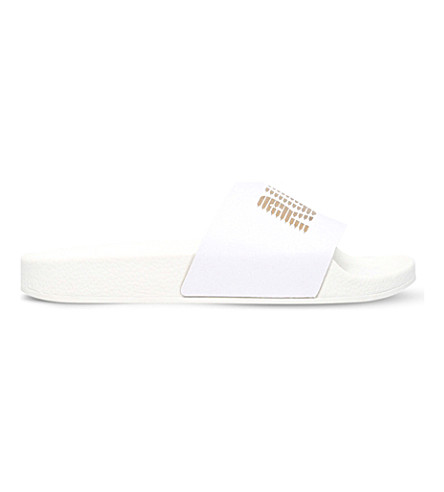 KG KURT GEIGER Mystical leather flip-flops (White