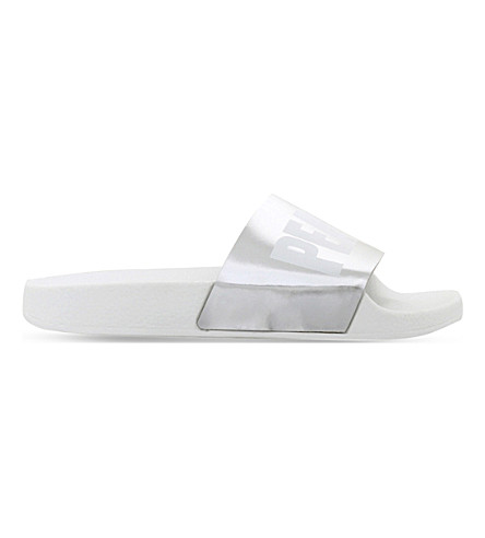 KG KURT GEIGER Mystical leather flip-flops (Silver