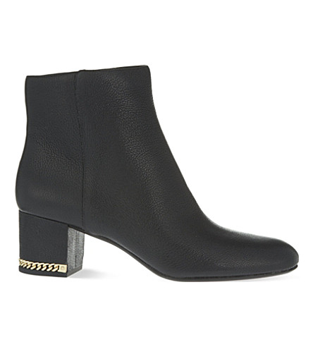 MICHAEL MICHAEL KORS Sabrina heeled leather ankle boots (Black