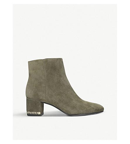 MICHAEL MICHAEL KORS Sabrina suede mid-heel ankle boots (Khaki