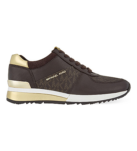 MICHAEL MICHAEL KORS Allie wrap leather sneakers (Brown/oth