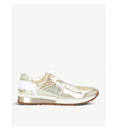 MICHAEL MICHAEL KORS Allie metallic leather trainers (Gold