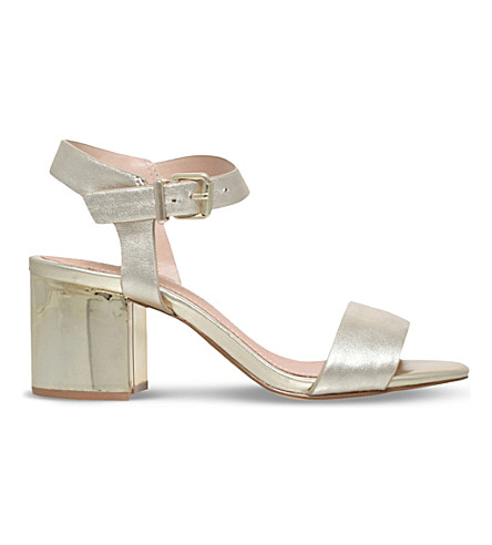 KG KURT GEIGER Nora leather heeled sandals (Champagne