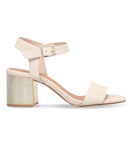 KG KURT GEIGER Nora leather block heel sandals (Bone