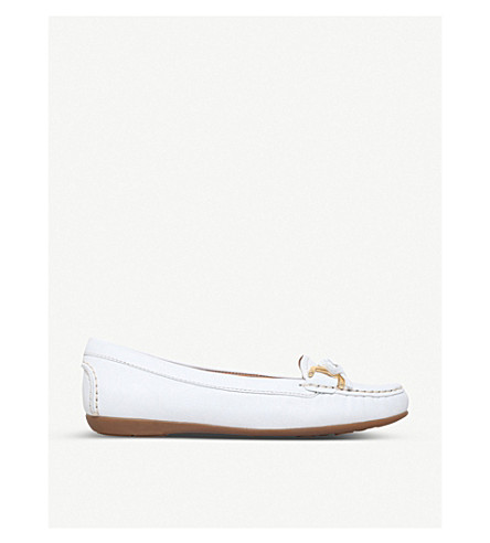 CARVELA COMFORT Cally suede loafers (White
