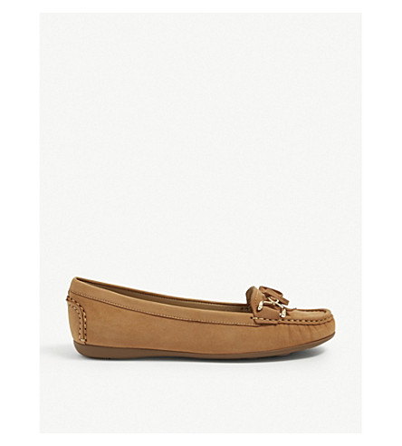 CARVELA COMFORT Cally suede loafers (Tan