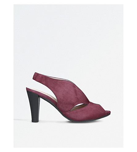 CARVELA COMFORT Arabella cutout heeled suede sandals (Wine