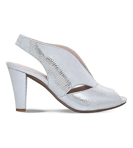 CARVELA COMFORT Arabella cutout heeled suede sandals (Silver