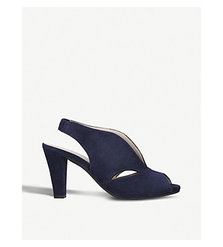 CARVELA COMFORT Arabella cut-out suede sandals (Navy