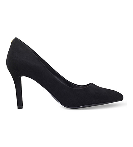CARVELA Aubrey suedette heeled courts (Black