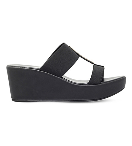 CARVELA COMFORT Sapphire wedge sandals (Black