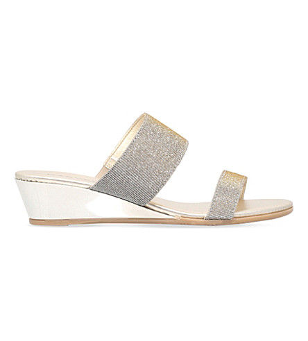 CARVELA COMFORT Stella metallic wedge sandals (Metal+comb