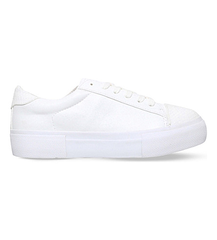 MISS KG Loco faux-leather trainers (White