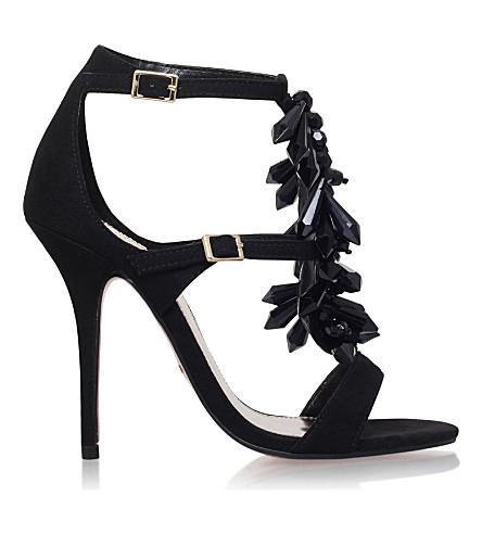CARVELA Granite suede heeled sandals (Black