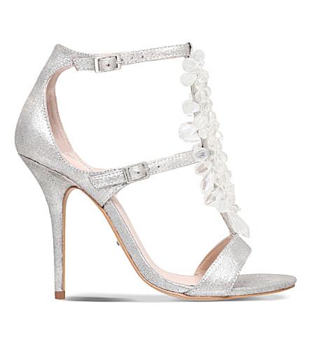 CARVELA Granite embellished metallic heeled sandals (Silver