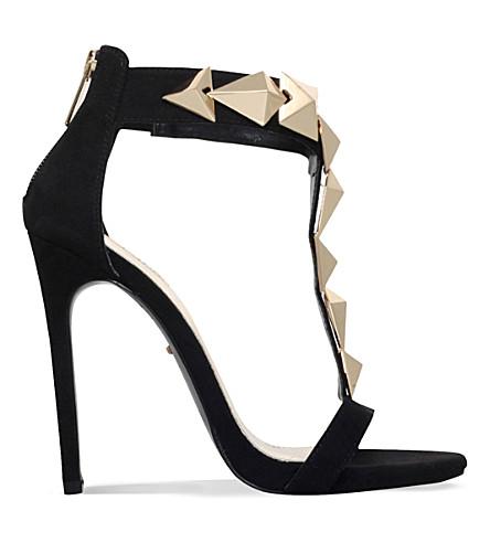 CARVELA Gain suedette heeled sandals (Black
