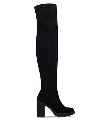 CARVELA Whistle suede knee-high boots (Black