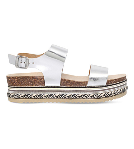 CARVELA Kitten leather sandals (Silver