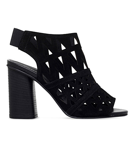 CARVELA Kupid suede heeled sandals (Black