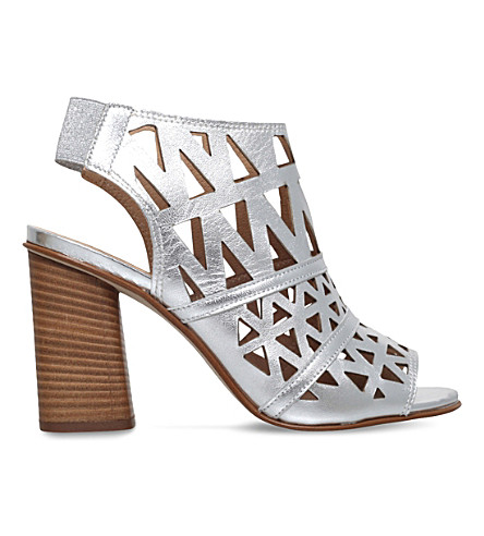 CARVELA Kupid leather heeled sandals (Silver