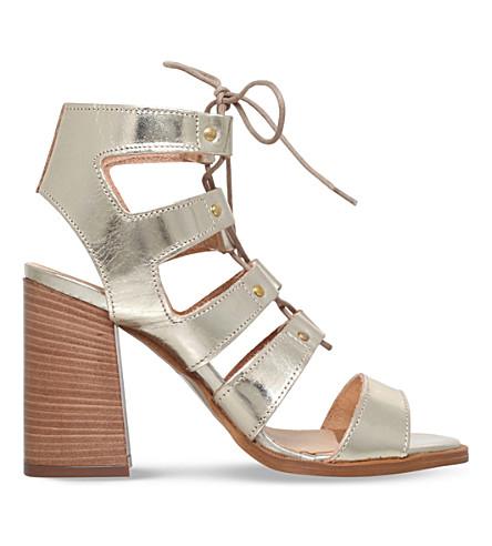 CARVELA Kandice leather heeled sandals (Gold