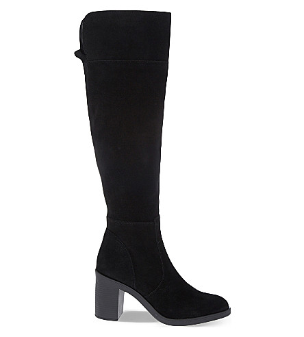 KG KURT GEIGER Tring suede over-the-knee boots (Black