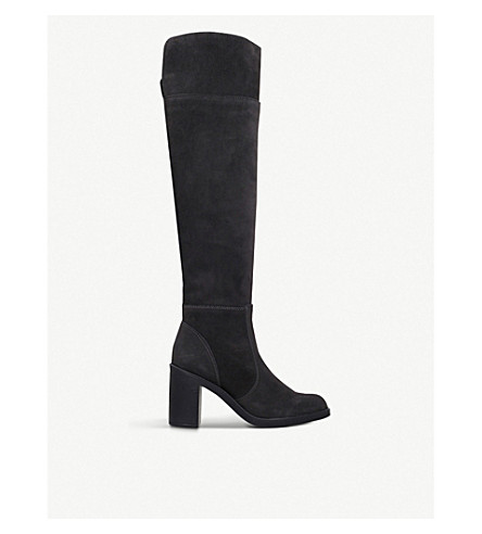 KG KURT GEIGER Tring suede over-the-knee boots (Grey