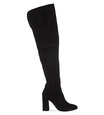 KG KURT GEIGER Tallulah suede over-the-knee boots (Black
