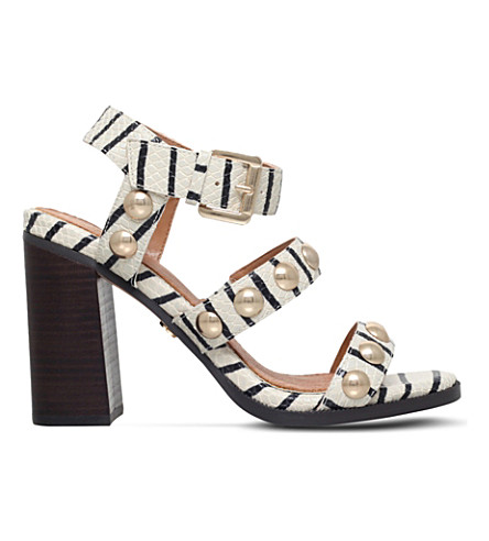 KG KURT GEIGER Nutty studded leather heeled sandals (Beige+oth