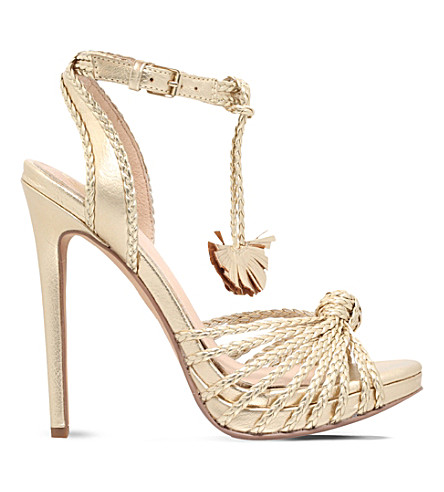 KG KURT GEIGER Hoax faux-leather heeled sandals (Gold