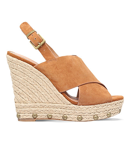 KG KURT GEIGER March suede wedges (Tan