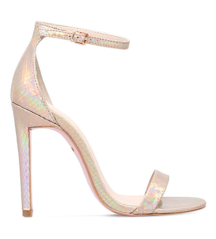 CARVELA Gatsby metallic heeled sandals (Gold