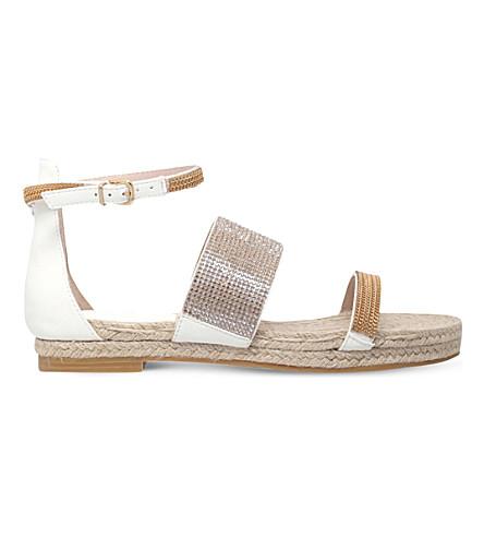 CARVELA Kacie chain-embellished sandals (White