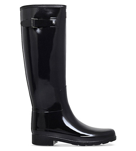 HUNTER Original Refined Gloss wellington boots (Black
