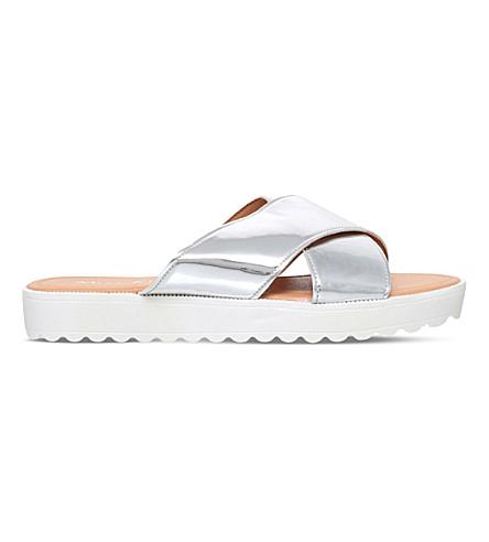 MISS KG Deion metallic platform sandals (Silver