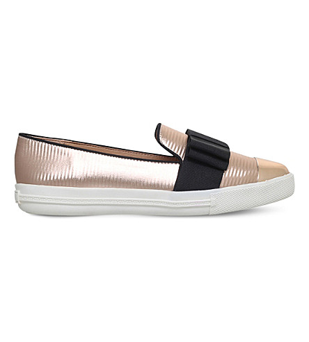 MISS KG Lisa metallic slip-on trainers (Metal+comb