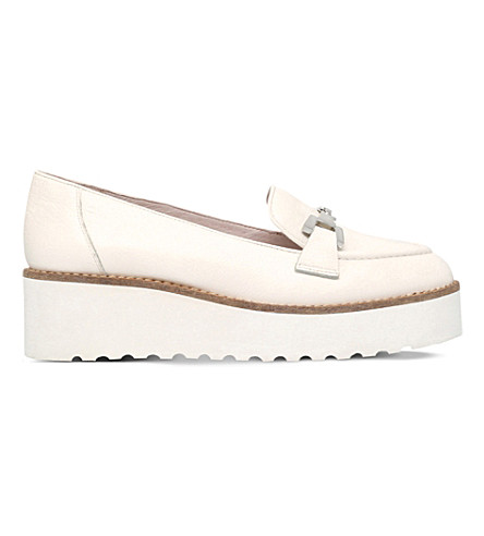 CARVELA Latch leather flatform loafers (White