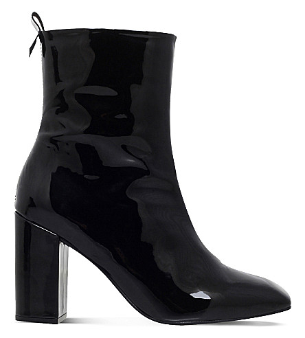 KG KURT GEIGER Strut patent-leather ankle boots (Black