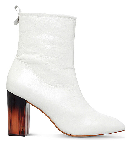KG KURT GEIGER Strut leather ankle boots (White