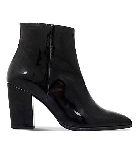 CARVELA Sarah patent-leather ankle boots (Black
