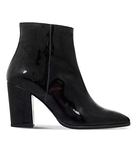 CARVELA Sarah patent-leather ankle boots (Black