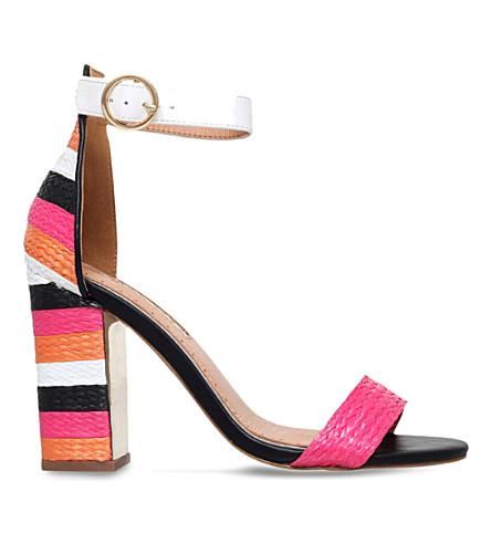 MISS KG Ebony panelled raffia sandals (Mult/other